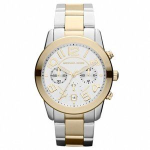 Authentic MICHAEL KORS Mercer Two Tone Watch